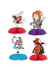 4 mini tafeldecoraties Alice in fantasieland