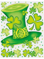 Raamstickers St Patrick's Day