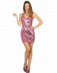 Roze disco jurk voor vrouwen