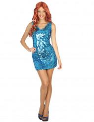 Blauwe disco jurk voor vrouwen
