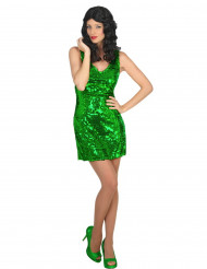 Groene disco jurk voor vrouwen