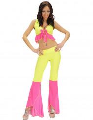 Sexy fluo disco kostuum voor vrouwen