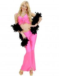 Sexy fluo roze disco kostuum voor vrouwen