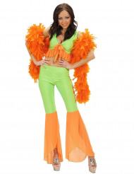 Sexy fluo disco kostuum voor dames