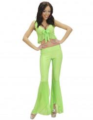 Sexy fluo groen disco kostuum voor vrouwen