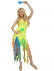 Fluo Braziliaanse danseres kostuum voor vrouwen