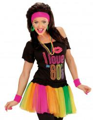 Veelkleurige fluo tutu voor vrouwen