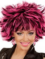 Zwarte en roze ruiten oorbellen voor vrouwen