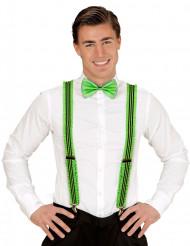Fluo groene bretels met plooien