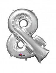 Enorme zilverkleurige & ballon