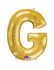 Enorme goudkleurige letter G ballon
