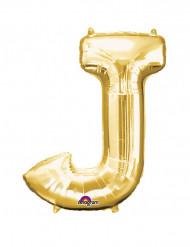 Enorme goudkleurige letter J ballon