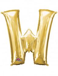 Enorme goudkleurige letter W ballon