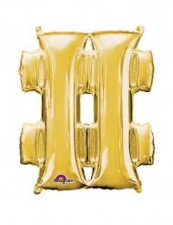 Goudkleurige # symbool ballon