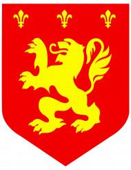 Middeleeuwse leeuw decoratie rood 30 cm