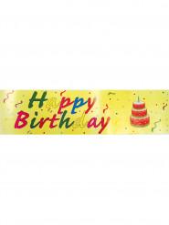 Gele Happy Birthday banner