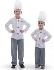 Witte chefkok outfit voor kinderen
