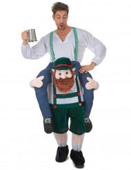 Man op rug van Tiroler kostuum voor volwassenen