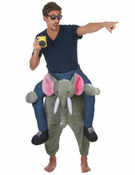 Man op rug van olifant kostuum voor volwassenen