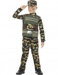 Militair camouflage uniform kostuum voor jongens
