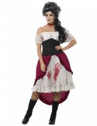 Bloederig spookpiraat kostuum voor vrouwen