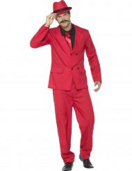 Rood gangster kostuum voor mannen
