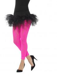 Fluo roze legging van kant voor vrouwen