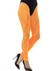 Fluo oranje kant legging voor vrouwen