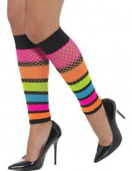 Fluo netstof beenwarmers voor vrouwen