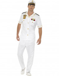 Wit kapitein kostuum voor mannen