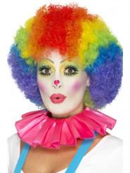 Roze clown kraag voor volwassenen