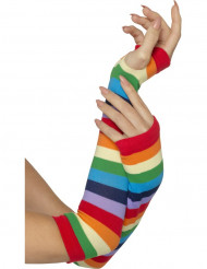Veelkleurige gestreepte handschoenen voor volwassenen