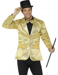 Luxe goudkleurige disco jasje met lovertjes voor mannen