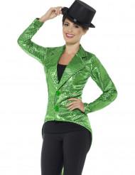Groene slipjas met lovertjes voor vrouwen