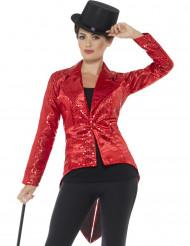 Rode slipjas met lovertjes voor vrouwen
