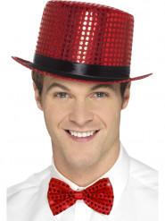Rode glitter hoed voor volwassenen