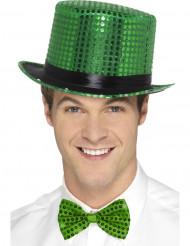 Groene hoed met zwart lint voor volwassenen