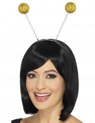 Haarband met goudkleurige glitterballen voor volwassenen