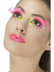 Lange roze nepwimpers voor dames