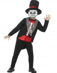 Gentleman skelet kostuum voor jongens