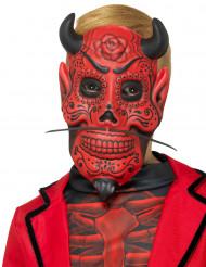 Duivels gentleman masker voor kinderen