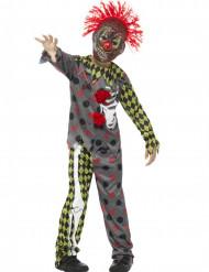Kostuum skelet clown voor kinderen