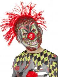 Gestoorde clown skelet masker voor kinderen