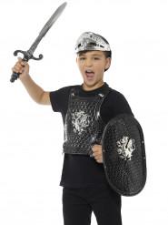 Zwarte luxe ridder set voor kinderen