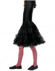 Oranje en paars gestreepte legging voor kinderen