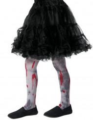 Bloederige zombie panty voor kinderen