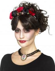 Gothic Dia de los Muertos halsband voor vrouwen