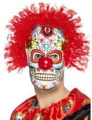 Dia de los Muertos clown masker voor volwassenen