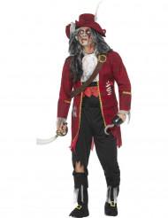 Luxe zombie kapitein kostuum voor mannen