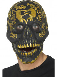 Goudkleurig doodskop masker voor volwassenen